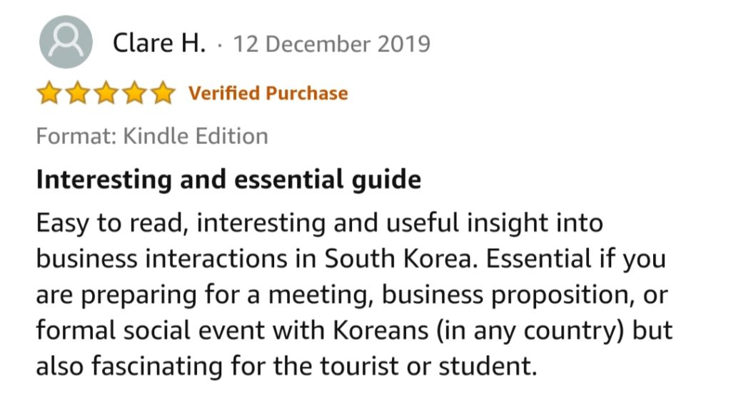 Amazon 5 star review for business in Korea a guide for foreigners